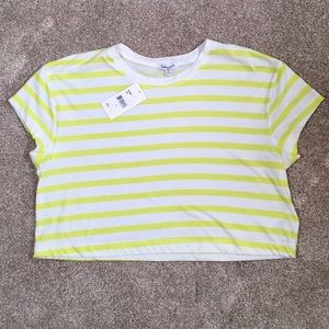 New w tags Splendid Yellow Striped Crop Top. SzS